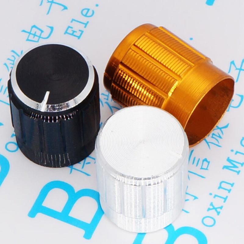 Aluminum-Alloy-Knob-Cap-15-17-Potentiometer-Knob-15-17-Rotating-Button-Aperture-6MM-Aluminum-cap