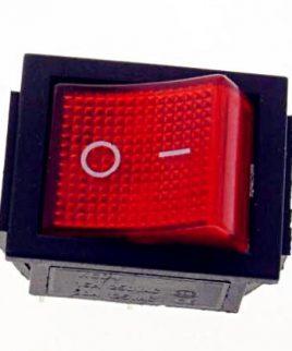 Boton Switch Encendido Y Apagado Rojo Rocker 6pins 16a
