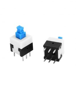Boton Pulsador Switch Con Retencion 6pin 8.8 X 8.8 Self-lock