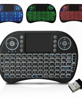 Mini Teclado Android Inalambrico Touchpad Smart Tv Luz Led