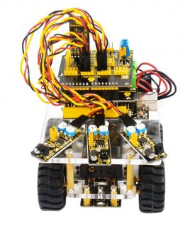Robot Armado y listo para usar Auto inteligente Keyestudio JS0159