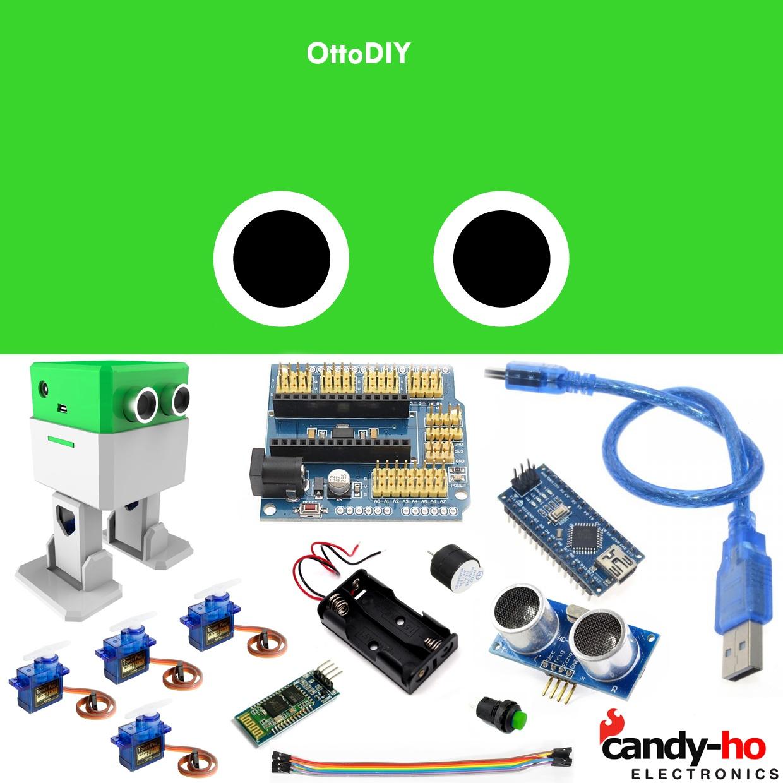 Robot Otto Armado Listo Para Usar Baila Control Cel Arduino 8